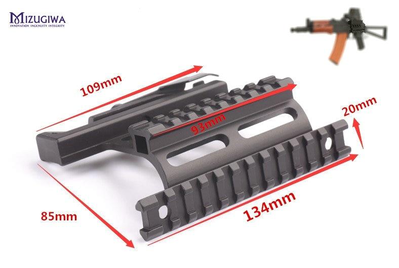 MIZUGIWA Tactical Heavy Duty Quick Release 20mm Rail Lock Scope Mount For AK Side Base Mount AK Base Hunting Caza Profile Pistol