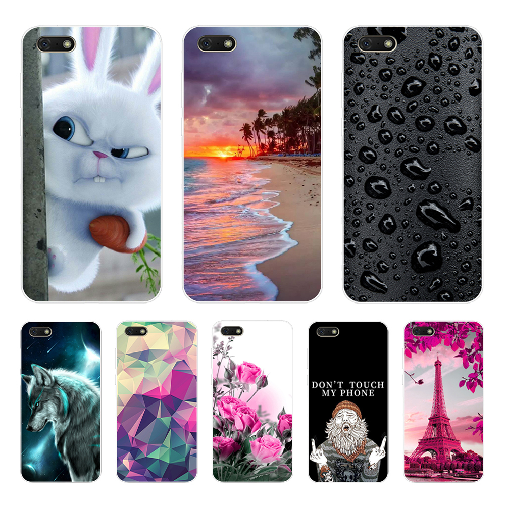 Silicone Case For Huawei Honor 7A Case 5.45 Soft TPU Phone Case On Huawei Honor 7A 7 A DUA-L22 Russian Back Cover Coque Bumper