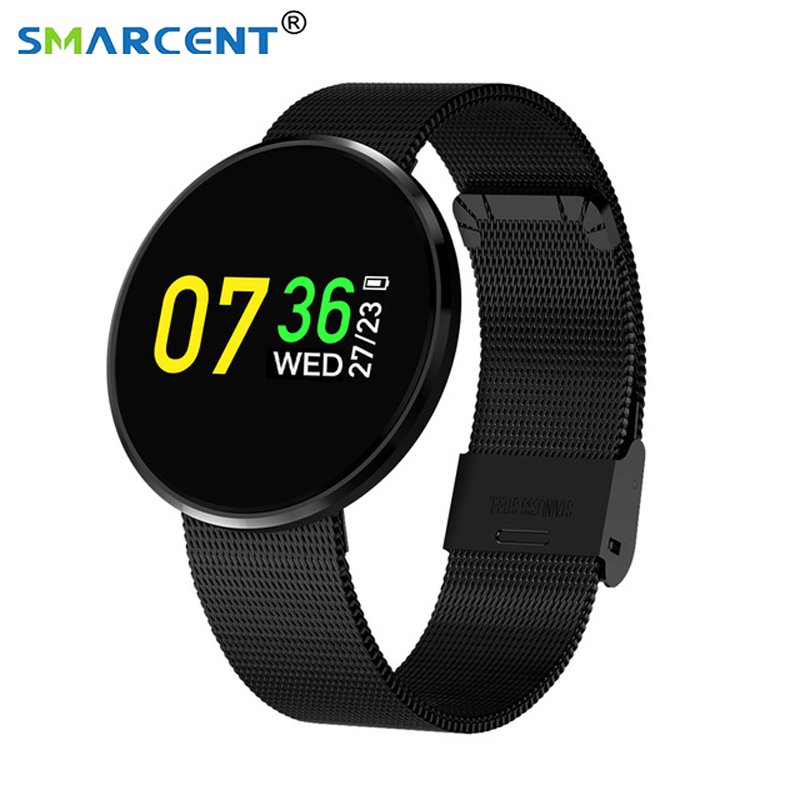 Ultra Thin Smart Bracelet HD colorful oled Screen Waterproof Sports Pedometer Ca