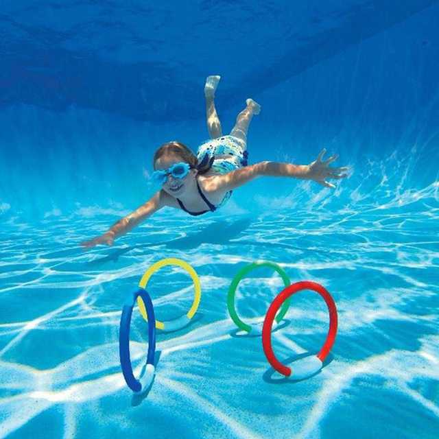 Niños natación juguete de la piscina de buceo tomar juguete tirar bar aprendizaje nadar formación accesorio para piscina para niños divertido juguete de la piscina jugando B41004