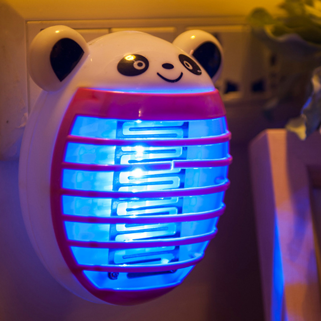 Iguardor Cute Household Mosquito Killer Lamp LED Light Anti Mosquito Bug Zapper Insect Muggen Killer Night Light Colorful