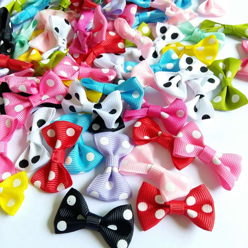 40pcs Polyester Cartoon DIY Sewing Ribbons Bow Tie Appliques Craft For Wedding Festivals Party Decoration Gift Package