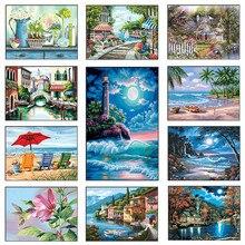5D DIY Diamond Painting Full Embroidery Landscape Sale Mosaic Cross Stitch Set Home Decor