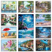5D DIY Diamond Painting Full Diamond Embroidery Landscape Sale Diamond Mosaic Cross Stitch Set Home Decor(China)