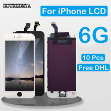 10PCS Grade AAA LCD For iPhone 6 6g LCD Display Touch Screen Digitizer Full Assembly Replacement No Dead Pixel Free Shipping 10pcs lot aaa no dead pixel lcd display for iphone 6 lcd screen touch digitizer screen cold press frame assembly dhl free ship