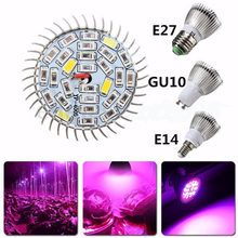E27 E14 Full Spectrum 18W 28W LED Plant Grow Light Bulb Fitolampy Phyto Lamp For Indoor Garden Plants Flower(China)