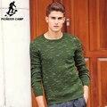 Pioneer Camp Новая Коллекция Весна Модный Бренд одежды Повседневная Свитер мужчин crewneck Slim Fit Мужские Свитера И Пуловеры 611204