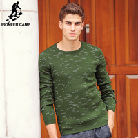 Pioneer Camp New Autumn Fashion Brand Casual Sweater O Neck Slim Fit Knitting Mens Sweaters And