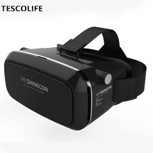 VR Box Shinecon 1 VRBOX Casque Video 3D Gerceklik Google Cardboard Virtual Reality Goggles 3D Glasses Headset Smartphone Helmet
