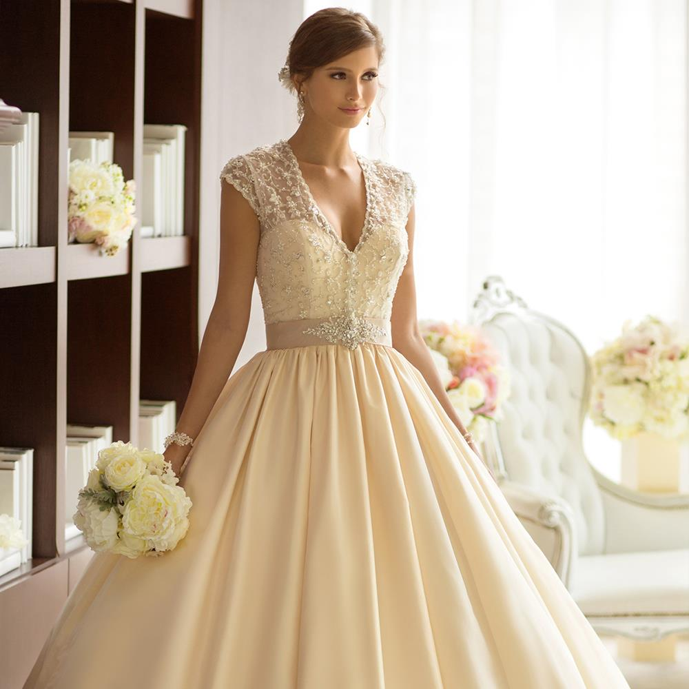 Clic Taffeta Ball Gown Elegant Detachable Diamante Beaded Jacket Ribbon Lovely Sweetheart Chapel Train Wedding Dress Essense In Dresses From