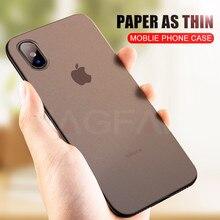 NAGFAK mate 0,29mm teléfono carcasa para iPhone 6 6S Plus 8 7 caso Plus Ultra delgada cubierta dura para iPhone X 5 5S SE teléfono 10 maletines