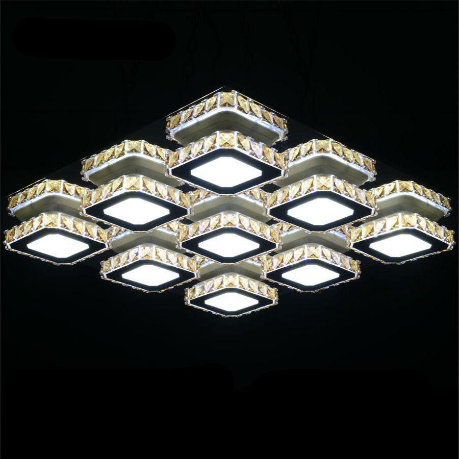 Moderne minimaliste de luxe mode arts sont rectangulaire led k9 plafonnier en cristal lumières lustre chambre