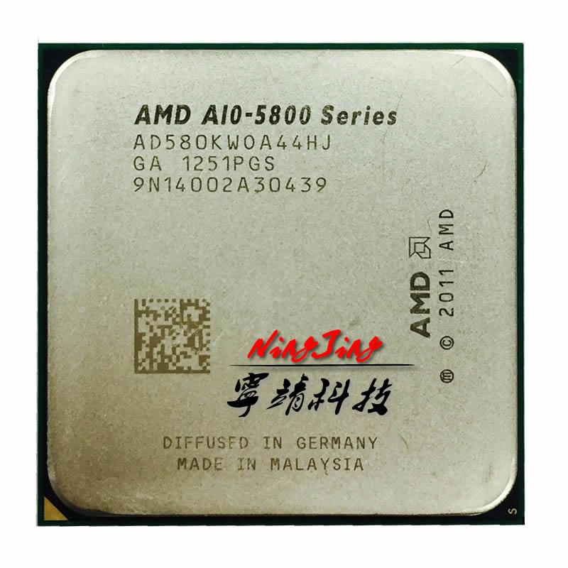 AMD A10 Series A10 5800K A10 5800 Quad Core CPU Processor AD580KWOA44HJ Socket FM2