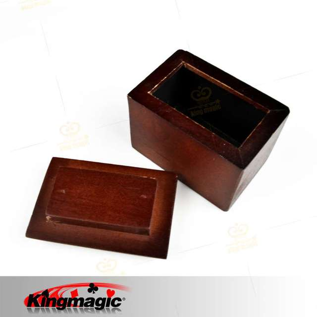 FREE SHIPPING Magic Tricks Card To Wooden Box King Magic toys wholesale magic props