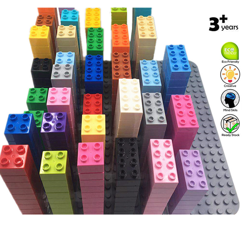 Large Building Colorful Blocks 2*2 Bricks DIY Classic Piece Big Size Dot Brick Toy Accessories Compatible With Duploed Parts