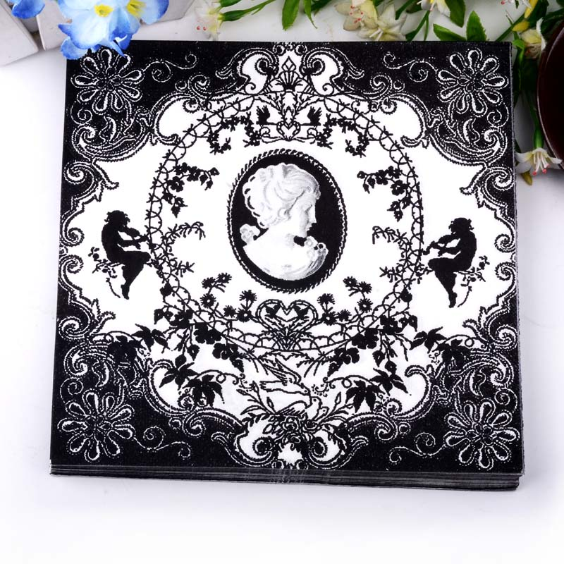 ₩60 unids venta personalizada papel de mesa servilletas tejido ...