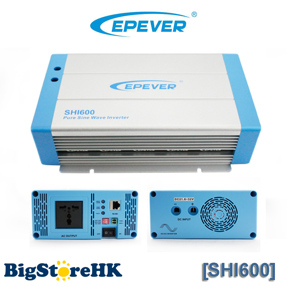600W EPever Pure Sine Wave Inverter 24VDC to 220VAC Solar Power Inverter 1500w 24vdc to 220vac pure sine wave inverter with 10a ac charge for solar panel