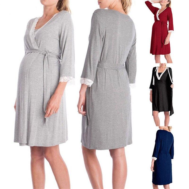 moda rendas retalhos maternidade pijamas tres quartos 04