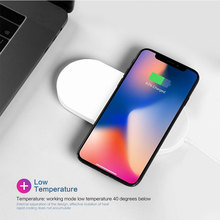 YWEWBJH  2 in 1 Qi Wireless Charger For iPhone XS Max XR Samsung 10W Fast Charging Pad Watch