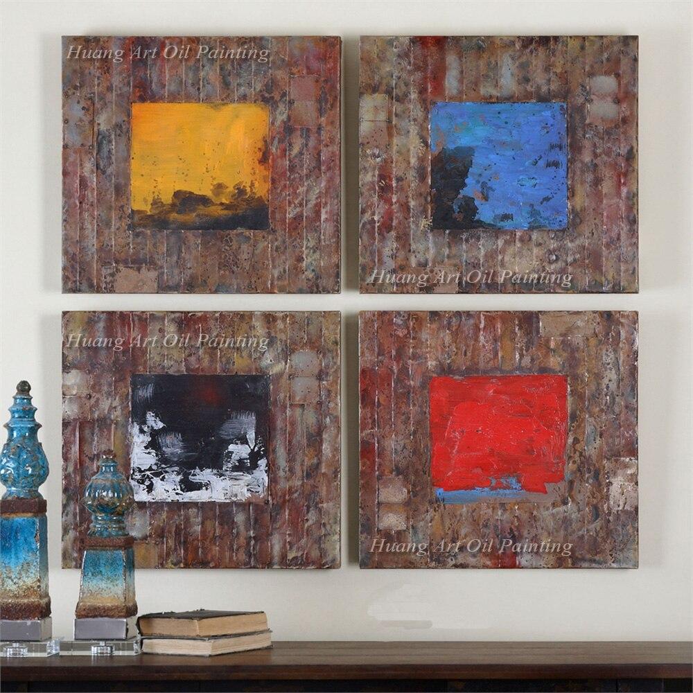 100% ручная роспись Абстрактная живопись маслом на холсте ручной работы Гостиная и отель современный натюрморт маслом на холсте