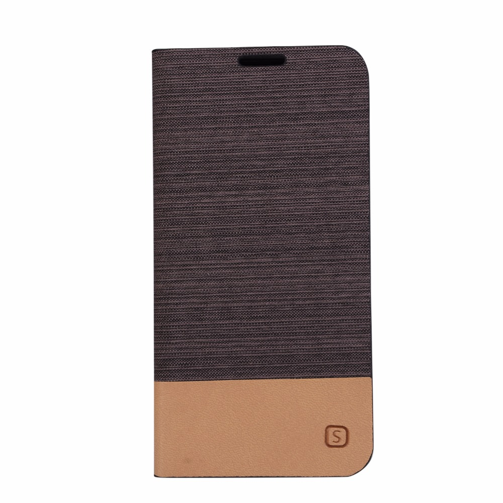 50pcs HYYGEDeal Phone cases Canvas line Hit Color Flip Wallet ID Card Stand Holder Leather Cover for HTC A9