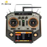 FrSky Horus X10 16 Channels Transmitter TX Remote Mode 2 Left Hand Throttle Sliver & Amber Color for RC Helicopter Airplane Toy