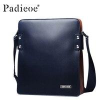 Padieoe Genuine Cow Leather Men Bag Business Men Messenger Bag leather Casual Men Shoulder Bags Black Blue Crossbody Bags Male