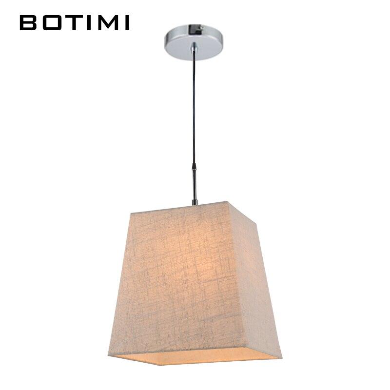 botimi tela luces colgantes con pantalla de tela para la cocina lamparas colgantes comedor hogar de
