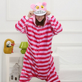 Kigurumi Animal Cat Cheshire Cat Cosplay Costume Alice in Wonderland Cheshire Cat Kigurumi Adults Women Pajamas Cartoon Onesies