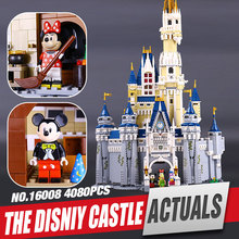 LEPIN 16008 Creator Cinderella Princess Castle City 4080pcs Model Building Minifigures Block Kid Toy Gift Compatible legoe 71040
