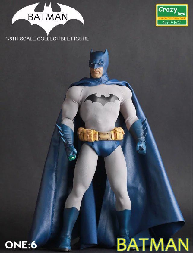 12 Crazy Toys blue Batman limited Figma Superman Dawn of Justice DC Avengers joker harley PVC action Figure Collectible Model chanycore doll movie joker wonder woman batman vs superman dawn justice dc vinil vinyl figure action figure model kids toys