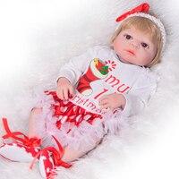 Полный Средства ухода за кожей силиконовые виниловые 23 ''Reborn Baby Куклы оптовая продажа для Обувь для девочек рождественские подарки Lifelike Reborn ...