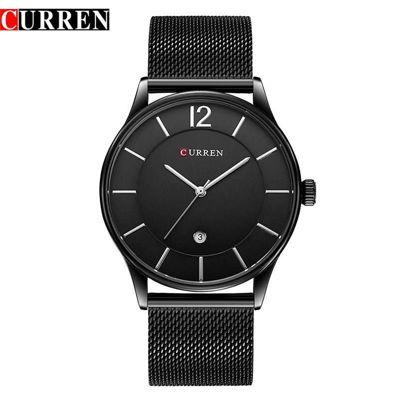 2017 Men Watches Luxury Brand CURREN Watches Men Clock Man Ultra Thin Full Steel Military Male Quartz-Watch Relogios Masculino curren men watch top luxury men quartz analog clock steel strap watches hours complete calendar relogios masculin drop shipping