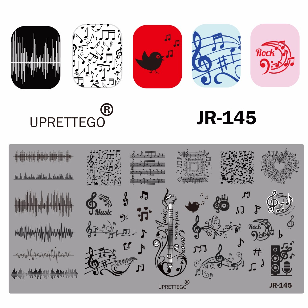 Image 5 - 2019 Stainless Steel Stamping Plate Template Russian Phrase Poker Vintage Flower Cactus Mexico Music Notes Nail Tool JR141 150-in Nail Art Templates from Beauty & Health