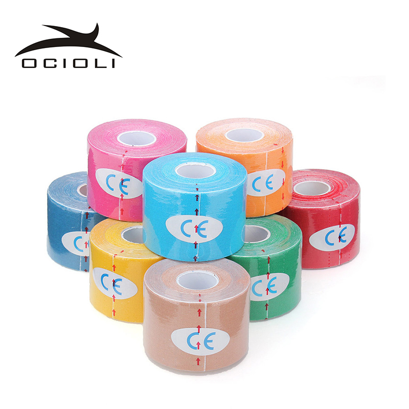 20 pieces 5cm*5m Kinesio Tape Kinesiology Tape Cotton Elastic Adhesive Muscle Tape Sports Tape Roll Care Knee Bandage Support