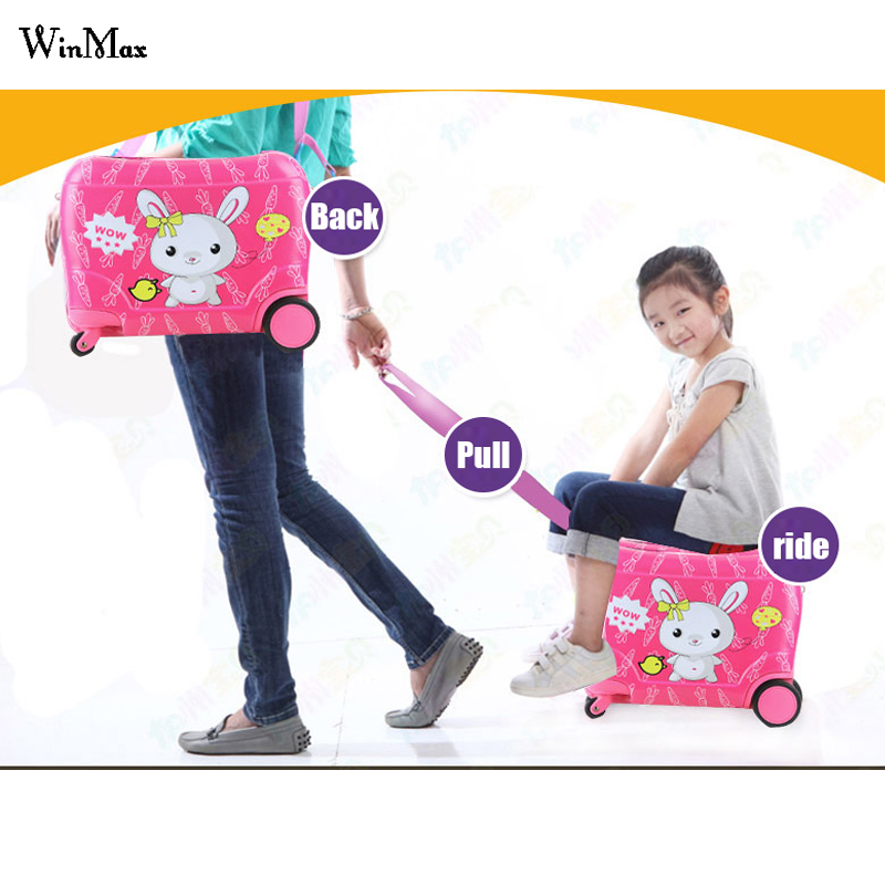 Anime stereo Student children trolley case Cute kids Travel suitcase boy girl cartoon backpack new fashion style cute toy motorcycle shape kids children rolling luggage boy and girl trunk trolley case travel box suitcase
