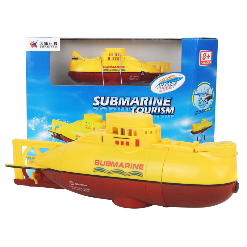 Yellow eMart Kids Mini RC Toy Remote Control Boat Submarine Ship Electric Toy Waterproof Diving in Water for Gift
