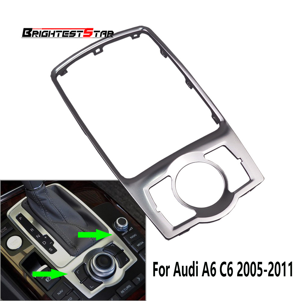 Mmi Audi A6 C6 Panel Trim Box Console Frame Silver Chrome For Audi A6 C6 S6 RS6 Quattro 2005 08 09 2011 4F0864260A 4F0 864 260A wooeight 4f5 945 096 d rear tail right light taillight assembly lamp housing without bulb for audi a6 a6 quattro sedan 2005 08