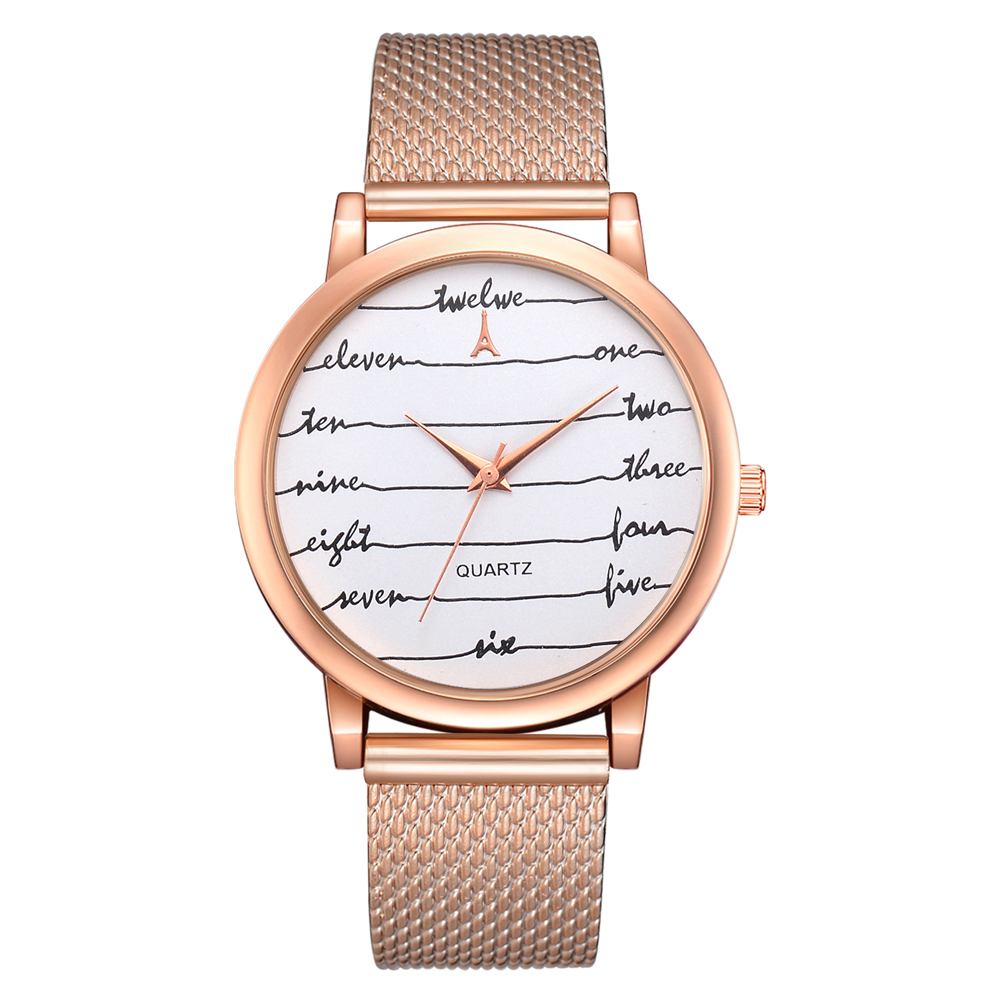 Watches Women Watches Mesh Silicone Women Style Quartz Fashion Casual Watch Band Top Brand Ladies Dress
