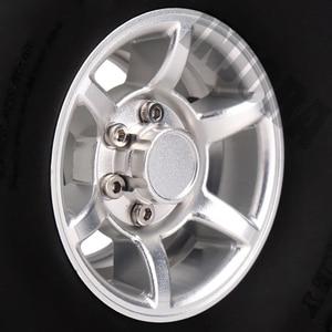 Image 4 - INJORA 4PCS 1.55 Inch Beadlock Aluminum Rim & Wheel Tires 1.55 Tyre for RC Crawler Car D90 TF2 Tamiya CC01 LC70 LC80