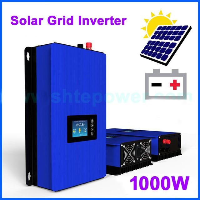 1000 Вт сетевой инвертор, солнечные панели, батарея, домашняя мощность, PV система, постоянный ток 22 65 в 45 90 В переменного тока 90 130 в 190 в 260 в