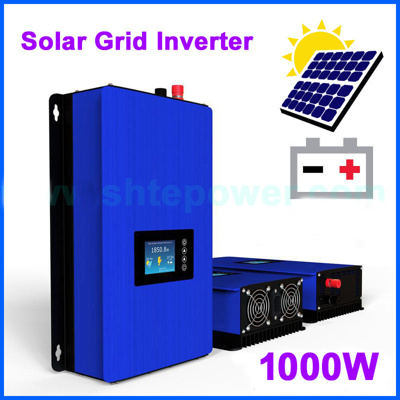 1000W on Grid Tie Inverter Solar Panels Battery Home Power PV System Sun-1000G2 DC 22-65V 45-90V AC 90V-130V 190V-260V maylar 22 60vdc 300w dc to ac solar grid tie power inverter output 90 260vac 50hz 60hz