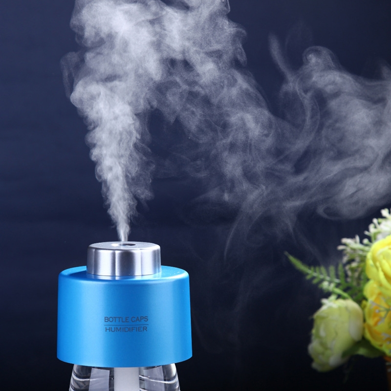 2017 With Bottle With Light Usb Water Cap Humidifier Office Air Diffuser Aroma Mist Maker Absorbent Filter Sticks For 5v