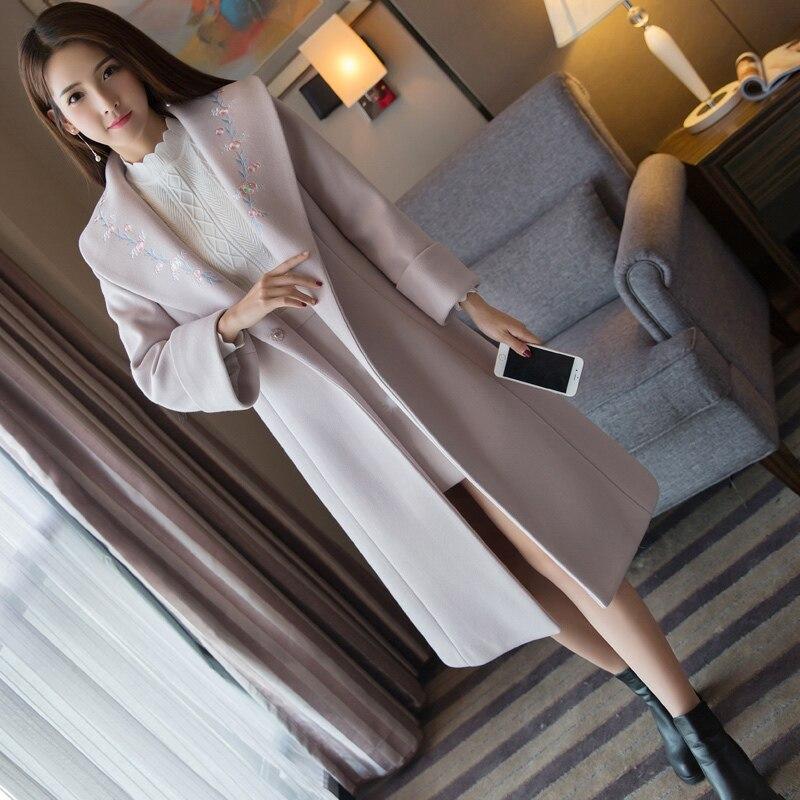 Long Haute Hiver Avec Pour Broderie Veste Qualité Laine Des Purple Manteau Femmes Automne Vêtements De Coréenne Jeunes 4260 Light wSH0xtWqYn