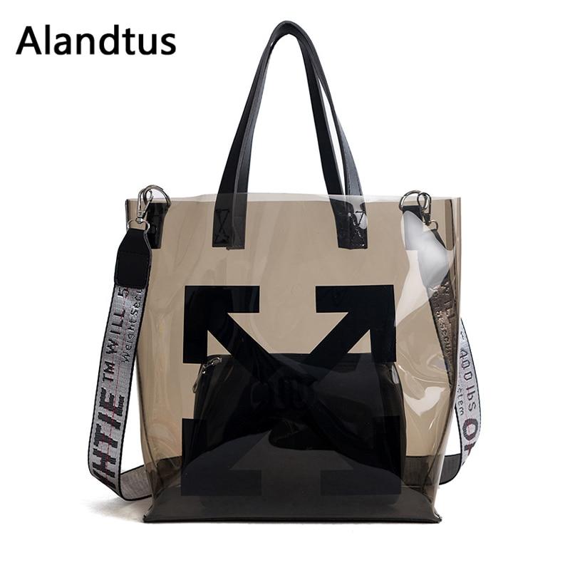 Alandtus Crossbody-Bags Women Handbags Transparent Bolsa-Feminina Casual for Female