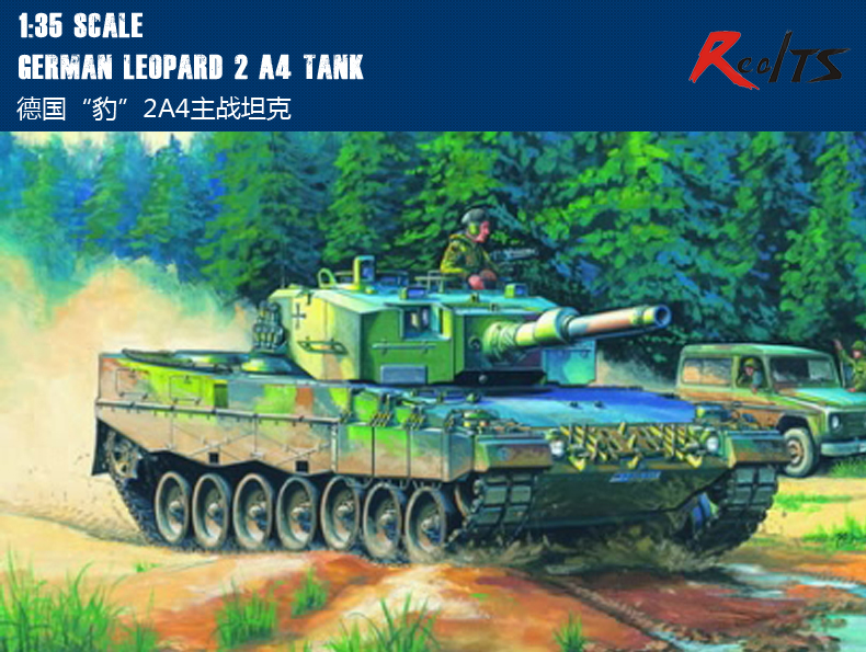 RealTS HobbyBoss MODEL 1/35 SCALE Military Models #82401 German Leopard 2 A4 Tank Plastic Model Kit