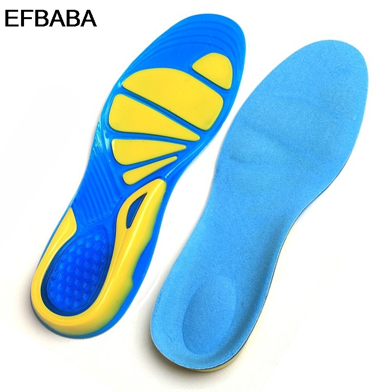 EFBABA Silicone Gel Insole Arch Support Pad Heel Spur Sweat Absorbent Breathable Damping Running Sports Insoles Shoe Accessoire