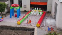 Human Bubble Bowling Pin Inflatable Amusement Sport Game