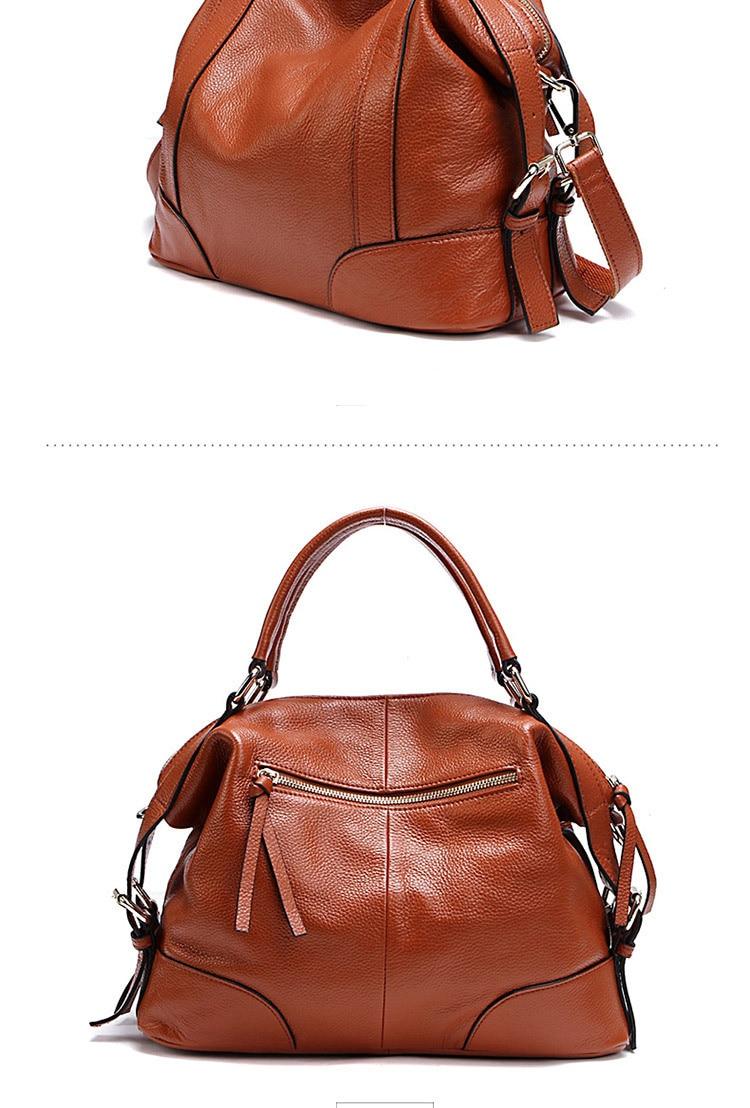 Women's Handbags Genuine Leather Female Bag Top Layer Cowhide Ladies Shoulder Bag Simple Messenger Bags