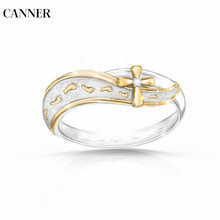 Canner Women Cross Rings Inlaid Crystal Rhinestone Wedding Engagement For Jewelry